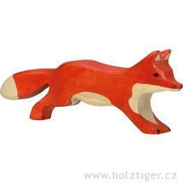 Liška běžící – dřevěné zvířátko zlesa
