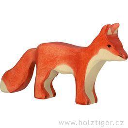 Liška stojící – dřevěné zvířátko zlesa