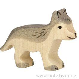 Vlkmalý – dřevěné zvíře zlesa