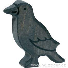 Havran – pták vyřezaný zedřeva