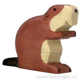 Bobr – vyřezávané dřevěné zvířátko