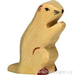Svišť – vyřezávané dřevěné zvířátko