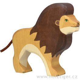 Stojící lev– dřevěné zvíře