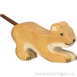 Hrající silvíče – dřevěné zvíře