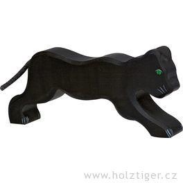Černý levhart – dřevěné zvíře