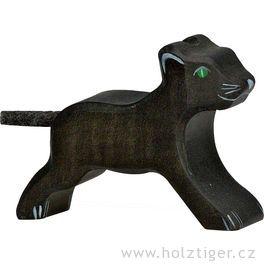 Levhartí mládě – dřevěné zvíře