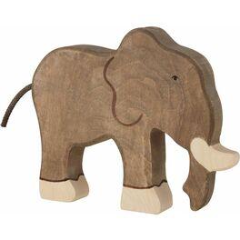 Stojící slon – divoké zvíře zedřeva