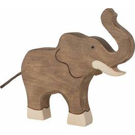 Slon sezvednutým chobotem – divoké zvíře zedřeva