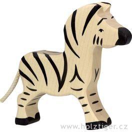 Malá zebra – zvíře zedřeva