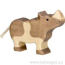 Mládě nosorožce – zvíře zedřeva