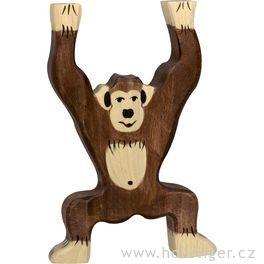 Stojící šimpanz – dřevěná hračka