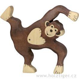 Hrající sišimpanz – dřevěná hračka