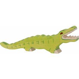 Krokodýl – dřevěné zvíře