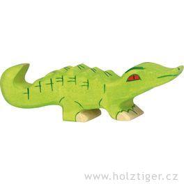 Malý krokodýlek – dřevěné zvíře