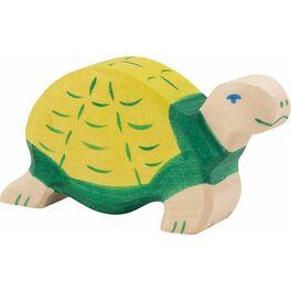 Zelená želva – dřevěné zvíře