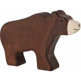 Medvěd hnědý – dřevěné zvíře