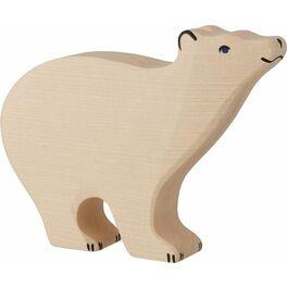 Stojící lední medvěd – dřevěná hračka