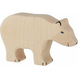 Lední medvěd krmící se– dřevěná hračka