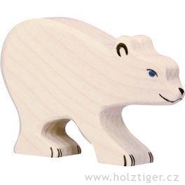 Mládě ledního medvěda – dřevěná hračka