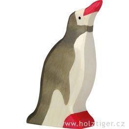 Tučňák sezvednutou hlavou – dřevěná hračka