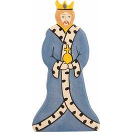 Král – dřevěná vyřezávaná figurka