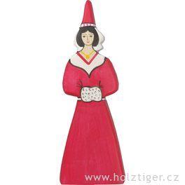 Hradní slečna – dřevěná vyřezávaná figurka