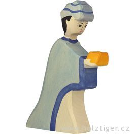 Kašpar (modrý) – biblická dřevěná postava