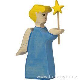 Anděl shvězdou – biblická dřevěná postava