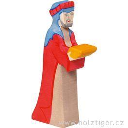 Kašpar (červený) 2– biblická postava zedřeva