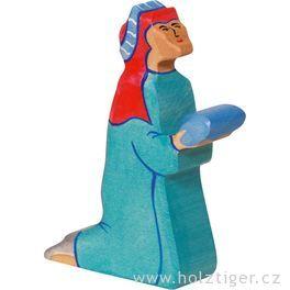 Baltazar (modrý) 2– biblická postava zedřeva