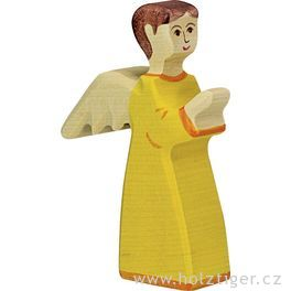 Anděl oranžový 2– biblická postava zedřeva
