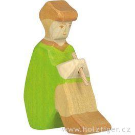 Pastýř sflétnou (série III) – dřevěná postavička dobetlému