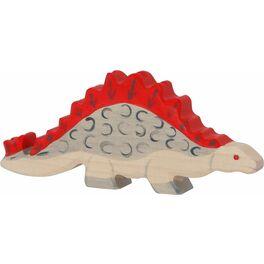 Stegosaurus – dřevěná vyřezávaná hračka