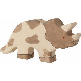Triceratops – dřevěná vyřezávaná hračka