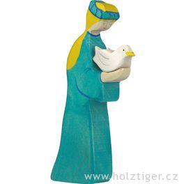 Noemova žena – ručně malovaná figurka zedřeva