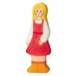 Dcerka – dřevěná figurka