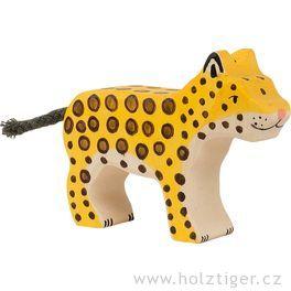 Mládě geparda – dřevěné zvířátko