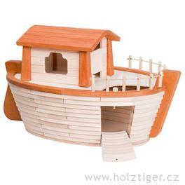 Noemova archa – dřevěná loď (bez vyobrazené dekorace)
